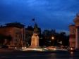 Ночной Волгоград. Волгоград, ул. Мира. Памятник Александру Невскому