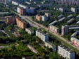 Flying over Novokuybyshevsk. Проспект Победы и улица Свердлова