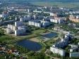 Flying over Novokuybyshevsk. Озеро Сакулино. Улицы Карьышева и Свердлова.