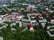 Flying over Novokuybyshevsk. Улица Коммунистическая и площадь Ленина.