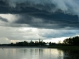 Nil Monastery. Озеро Селигер, после бури.