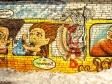 Граффити Тольятти. Детский парк в автозаводском районе. или Фанни парк. горка на заброшенном автодроме