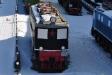 Музей железнодорожного транспорта. Грузовой электровоз серии ПБ-21 заводской №01. Построен московским заводом Динамо им. Ленина в 1934г. Конструктивная скорость - 126 км/ч. Вес с полным балластом - 132 тн. Сила тяги: часовая - 23400 кг, длительная - 16600 кг. Нагрузка на движущую ось - 22,3 тн. Диаметр движущего колеса - 1850 мм. Длина по осям автосцепки - 16570 мм. Количество тяговых двигателей - 3. Тип тягового двигателя ДСЭ-6892.