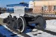 Музей железнодорожного транспорта. Тележка грузового вагона. Тип: тележка даймонда. Основные части: шкворневая балка,  две боковые рамы, рессорный комплект, колесные рамы с подшипниками скольжения. Эксплуатировалась в 20-х - 50-х годах ХХ века.