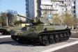 . Т-34. Советский средний танк. Боевая масса - 25,6-32т. Экипаж - 4чел. Скорость - 54км/ч. Калибр - 76мм.  Главный конструктор танка - М.И. Кошкин. (Выпускался серийно с 1940 года).