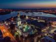 Сызрань с высоты птичьего полета. Казанский Кафедральный собор на закате