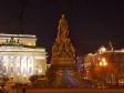 Ночной Невский проспект. Памятник Екатерине Великой