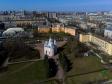 Московский район с высоты. Церковь Святого Иоанна Предтечи на улице Ленсовета