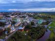 Фотографии Соликамска с высоты. Исторический центр Соликамска на закате.