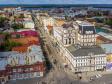 Самара с высоты 2019. Пешеходная улица Ленинградская
