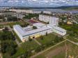 Альметьевск с высоты. Школа №21 и Альметьевское водохранилище