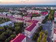 Вечерний центр Новокуйбышевска. Перекресток улиц Коммунистической и 50 лет НПЗ