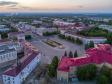 Вечерний центр Новокуйбышевска. Площадь Ленина со стороны Дворца культуры