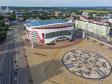 Саранск - столица Республики Мордовия с высоты.. Саранск Арена и площадь Тысячелетия