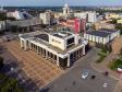 Саранск - столица Республики Мордовия с высоты.. Республиканский дворец культуры на улице Пролетарской