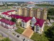 Саранск - столица Республики Мордовия с высоты.. Республиканский лицей для одарённых детей на улице Московской