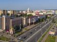 Саранск - столица Республики Мордовия с высоты.. МВД Республики на улице Коммунистической