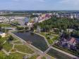 Саранск - столица Республики Мордовия с высоты.. Река Саранка и Парк культуры и отдыха им. А.С. Пушкина