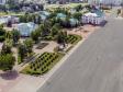 Саранск - столица Республики Мордовия с высоты.. Ленинский сквер и Советская площадь