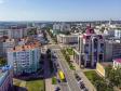 Саранск - столица Республики Мордовия с высоты.. Проспект Ленина. Справа здание Министерства финансов Республики Мордовия