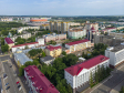 Саранск - столица Республики Мордовия с высоты.. Проспект Ленина. На переднем плане Верховный суд Республики Мордовия
