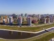 Саранск - столица Республики Мордовия с высоты.. Река Тавла. Новые дома на улице Волгоградской