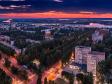 Необычный взгляд на город Балаково. проспект Героев на закате.