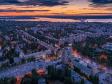 Необычный взгляд на город Балаково. Жилгородок на закате.