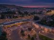 Взгляд с высоты на Саратов и Волгу . Вокзал Саратова. Памятник Ф.Э. Дзержинскому на Привокзальной площади.
