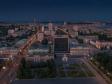 Взгляд с высоты на Саратов и Волгу . Экономбанк и администрация Саратова, Театральная площадь