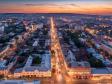 Взгляд с высоты на Саратов и Волгу . Перекресток улиц Горького и Московской