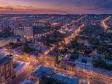 Взгляд с высоты на Саратов и Волгу . Пересечение улиц Кутякова и Горького.