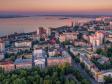 Взгляд с высоты на Саратов и Волгу . Соборная площадь, ул. Радищева