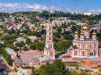 Взгляд с высоты на Саратов и Волгу . Покровский храм Саратова