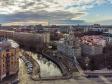Петроградский район с высоты. Иоанновский Ставропигиальный женский монастырь на реке Карповке