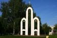 莫斯科郊区教堂. Часовня находится в городе Ступино в сквере имени В.Ф.Полякова.