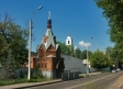 莫斯科郊区教堂. Кирпичная шатровая часовня была возведена в 1911 году в псевдорусском стиле по проекту архитектора С.Г.Аппельрота. Восстановлена в 2003 году как часовня Тихвинской иконы Божией Матери.