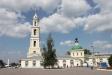 Temples of Moscow Region. Каменная церковь Иоанна Богослова была возведена в 1756 году на месте деревянной. В 1846г. была построена пятиярусная колокольня в стиле ампир, которая до сих пор является одним из самых высоких зданий в городе. В 1929 году храм был закрыт. Здание использовалось под склад, техникум. В 1997 году храм верули верующим. В настоящее время при храме действуют воскресная школа, благотворительная столовая.