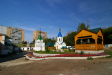 Кизический мужской монастырь. Часовня Новомучеников и Исповедников Российских выстроена из кирпича в 2006-2007 гг. Расположена в центре монастырского двора.
