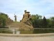 Mamayev Kurgan. Памятник советскому воину-богатырю «Стоять насмерть!». Монумент изображает русского воина, вставшего на пути врага. Этот образ воплощает в себе всех, кто встал на защиту родной земли. Воин-богатырь — порождение русской земли и великой Волги, от которых он черпает свою силу. Этот солдат, а вместе с ним и весь народ, уверен, что не даст врагу пройти. Своим телом он закрывает Родину-мать, которая расположена за его спиной. Дата открытия - 15 октября 1967 г. Архитекторы: Я.Б. Белопольский, В.А. Дёмин, Ф.М. Лысов. Скульпторы: М.С. Алешенко, В.Е. Матросов, Л.М. Майстренко, А.Н. Мельник, В.А. Марунов, Н.С. Новиков, А.А. Tюренков. Руководитель группы - Е.В. Вучетич.