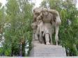 """Mamayev Kurgan. Скульптура """"Санитарка выносит раненого с поля боя""""."""