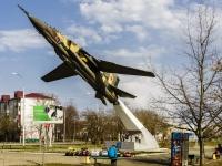 Maikop, 纪念碑 Самолет МиГ-23МЛДPionerskaya st, 纪念碑 Самолет МиГ-23МЛД