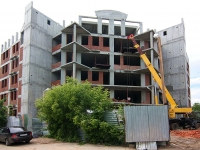 Казань, строящееся здание жилой дом, улица Волкова, дом 13
