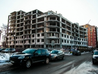 Kazan, building under construction долгострой, Kalinin st, house 32/1