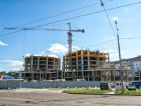 Kazan, st Dunayskaya, house СТР1. building under construction