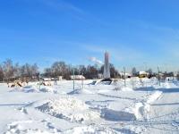 Казань, улица Залесная (п. Залесный). памятник Защитникам Отечества