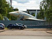Казань, улица Дементьева. памятник Самолет ТУ-144