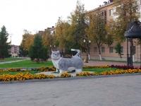 """улица Тимирязева. скульптура """"Кот"""""""