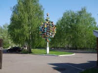 Нижнекамск, площадь Лемаева. малая архитектурная форма Скворечники