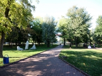 Уфа, улица Пушкина. парк им. С.Т. Аксакова